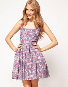 ASOS Dolly Skater Dress In Paisley, £32.50