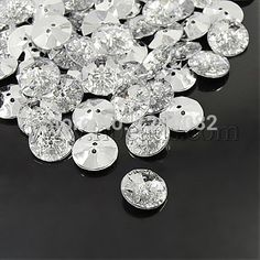 Cheap rhinestone buyer, Buy Quality rhinestone buttons sewing directly from China rhinestone clubwear Suppliers: Acrylic Rhinestone Buttons, 2-Hole, Faceted & Silver Plated Rivoli Back, Flat Round, ClearSize: about 12mm in diamet
