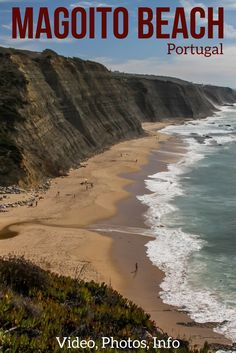 One of the most beautiful beaches in Portugal - Praia do Magoito is just 1h from Lisbon. Its impressive cliffs can be admired from different angles - not to be missed on your Portugal itinerary !   Portugal Travel Guide    Portugal beach   Portugal things to do   Portugal Travel Tips