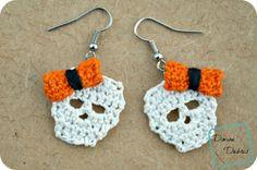Sally Skulls Earrings - free crochet pattern by Divine Debris.