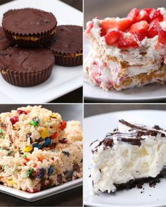 4 easy recipes to try when you give in to your sweet cravings. No bake. No problem.