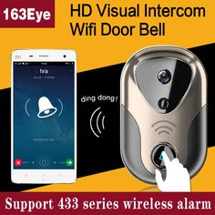 Wide View HD Visual Video Door Intercom WiFi IP Door Bell Camera Support SD Card and 433 Series Wireless Alarm L1 Doorbell #hats, #watches, #belts, #fashion, #style
