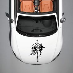 CAR HOOD VINYL STICKER DECALS GRAPHICS DESIGN ART SKULL MONSTER TATTOO SV4835