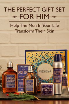 Meet all of his skincare and shaving needs with this L'Occitane gift set. Whether it's for the holidays or a birthday—dads, boyfriends, brothers, and husbands will all appreciate the gift of hydrated and soothed skin, wrapped in the L'Occitan scent.