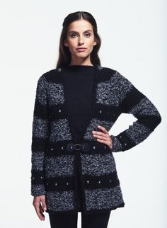 Cat. 16/17 - #259 V-neck jacket | Buy, yarn, buy yarn online, online, wool, knitting, crochet | Buy Online