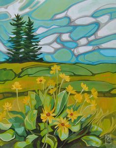 Erica Hawkes Archives - Page 4 of 5 - Grant Berg Gallery Landscape Quilts, Landscape Art, Landscape Paintings, Landscape Illustration, Illustration Art, Colorful Wall Art, Abstract Nature, Impressionist Art, Portraits