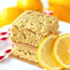 Healthy Lemon Blondies -- gluten free, vegan and sugar free!