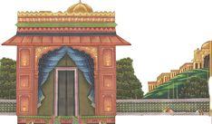Mughal Arts Mughal Miniature Paintings, Mughal Paintings, Christmas Stage, Building Illustration, Temple Design, Art Deco Pattern, Album Design, Hawaiian Print, Tribal Art