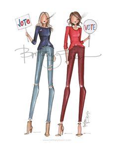 Vote | 2016 election | Brittany Fuson | fashion illustration