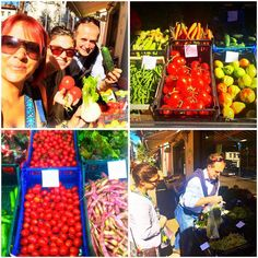 Shopping in #Barga #localmarket#tuscanfood Jody and Aly ready for a new #culinaryexperience with chef Alessandro ! #renhotels #rdiscovery !