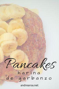 pancakes de harina de garbanzo