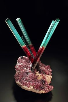 A stunning Tourmaline from the Pederneira mine in Minas Gerais, Brazil.