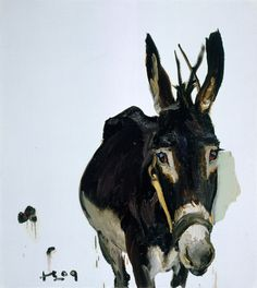 Liu Xiaodong The donkey 100×90cm Oil on canvas 2009