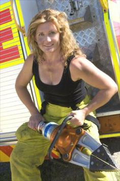 women Firefighter Rescue Images | ... of female firefighters raising funds for breast cancer research
