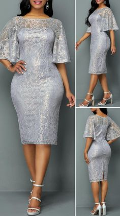 African Lace Styles, Short African Dresses, Latest African Fashion Dresses, Short Dresses, Lace Dress With Sleeves, Lace Sheath Dress, Elegant Dresses, Beautiful Dresses, Pretty Dresses