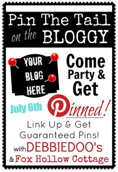 Fox Hollow Cottage: How To Get More Pinterest Pins {Pin The Tail On The Bloggy}