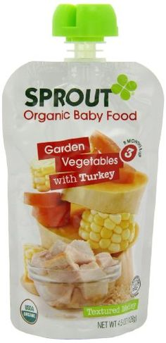 Sprout Stage 3 Organic Baby Food, Garden Vegetables with Turkey, 4.5 Ounce (Pack of 5) - http://goodvibeorganics.com/sprout-stage-3-organic-baby-food-garden-vegetables-with-turkey-4-5-ounce-pack-of-5/