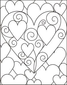 Beautiful hearts design to use for crafting or to print and color.