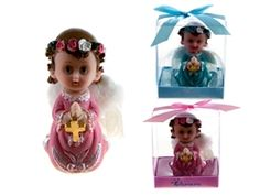 """3.5"""" Poly Resin Praying Angel w/ Rosary Favor (With Decorative Gift Box). Available for boy or girl. Only $17.00 for 12 pieces."""