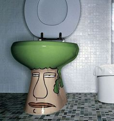 halloween face toilet bowl  Creative closestool design 7-8  August 2013