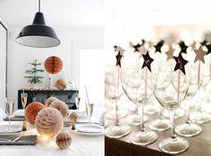 10 fina idéer till dukningen på nyår Scandinavia Design, Christmas Decorations, Table Decorations, Style And Grace, Live Life, Christmas Time, Table Settings, Inspiration, Furniture