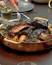 Slow-Braised Short Ribs with Spinach