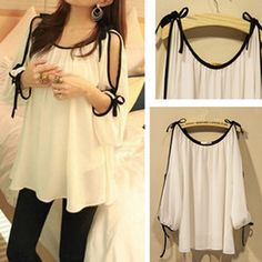 Online Shop 2013 New arrive Chiffon blouses embroidery tops sexy shirts for women Plus size summer batwing ruffled the hollow Summer Outfits, Cute Outfits, Summer Dresses, Mode Top, Sexy Shirts, Plus Size Outfits, Plus Size Fashion, What To Wear, Clothes For Women