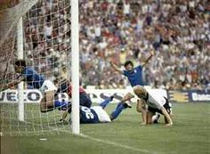 Italy 3 West Germany 1 in 1982 in Madrid. Paolo Rossi scores his 6th goal in 3 games and Italy lead 1-0 on 57 minutes in the World Cup Final.
