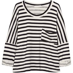 Kain Lennon striped jersey sweater (310 RON) ❤ liked on Polyvore featuring tops, sweaters, shirts, t-shirts, oversized slouchy sweater, stripe sweaters, jersey sweater, slouchy sweaters and oversized sweaters