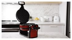 thinkkitchen Double Waffle Maker, Red Belgian Waffle Maker, Belgian Waffles, Le Double, Waffle Iron, Bakeware, Cookware, Make It Simple, Brunch