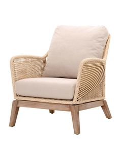If you love the look of woven furniture, you'll adore the Star International Loom Club Chair . An intricate rope weave design forms the seat. Plywood Furniture, Porch Furniture, Furniture Logo, Furniture Sets, Furniture Design, Furniture Websites, Furniture Stores, Cheap Furniture, Outdoor Furniture
