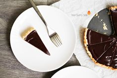 A decadent chocolate tart. The chocolate tart is silky, smooth and rice. Perfect as an indulgent treat or for a chocolate lovers sweet toohth. Chocolate Tarts, Decadent Chocolate, Chocolate Lovers, Chocolate Recipes, Treats, Sweet, Tableware, Chocolate Pies, Sweet Like Candy