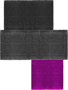 modernrugs.com tetris black gray purple odd shaped modern rug