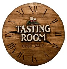 It's always tasting time with this beautiful wall clock!
