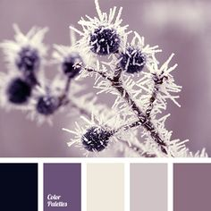 Rich shades of lilac colour diluted with dark blue. This palette will look organic in the decor of a bedroom, especially if the items you will emphasise so.