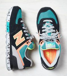 Black New Balance 574 Sneaker