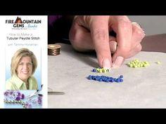 How to Make a Tubular Peyote Stitch with Tammy Honaman.