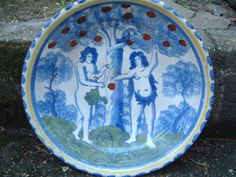 RARE ENGLISH DELFT BLUE DASH CHARGER BRISTOL 1700 DELFTWARE FAIENCE MAIOLICA