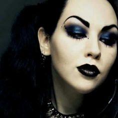#Goth makeup