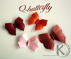 An Origami Butterfly By Kalami