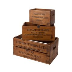 Small Box Billingsgate Market Vintage Antiqued Wooden Box Trug Crate