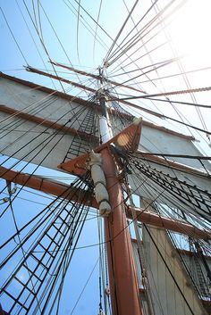 simplicity of complexity.  Star of India, tall mast sailing ship, San Diego.