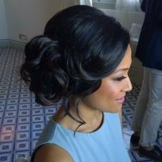PROFESSIONAL HAIR AND MAKEUP ARTIST IN ROME ITALY Janita Helova www.janitahelova.com soft side updo wedding hair
