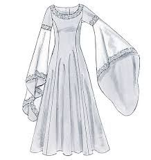 104 Best Medieval dress pattern images | Medieval dress