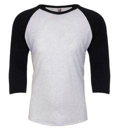 Next Level - Tri Blend Unisex 3/4 Sleeve Raglan Baseball T-Shirt - 6051
