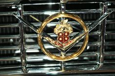 1955 Packard Caribbean grill ornament