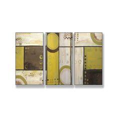 Industrial Circles Beige Triptych Art (17 x 33) | Overstock.com Shopping - The Best Deals on Other Medium = $59.99