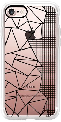 Casetify iPhone 7 Classic Grip Case - Ab Outline Grid on Side Black Transparent by Project M #Casetify