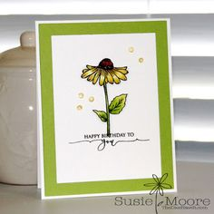 Gina K. Designs A Year of Flowers 3 stamp set by Melanie Muenchinger Scripty Sayings stamp set by Gina K.