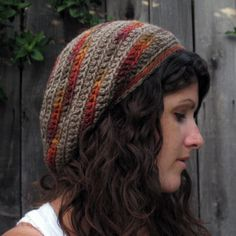 Free Crochet Slouch Hat Pattern -- For Julie Crochet Adult Hat, Crochet Slouchy Hat, Free Crochet, Knitted Hats, Knit Crochet, Slouch Hats, Slouchy Beanie, Easy Crochet, Crochet Scarves